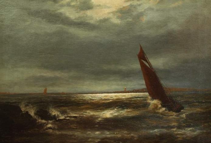 meereslandschaft mit segelschiffen by gerhard arij ludwig morgenstjerne munthe