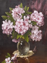 rhododendrons by ernest william buckmaster