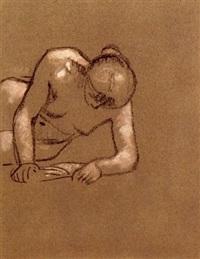nu lisant (2 works) by julio gonzález