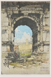 arch of titus, rome by luigi kasimir