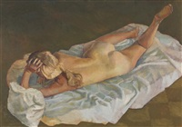 reclining nude by brian james dunlop