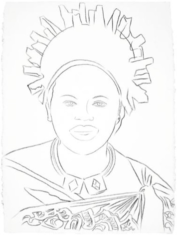 reigning queens queen ntombi twala of swaziland by andy warhol