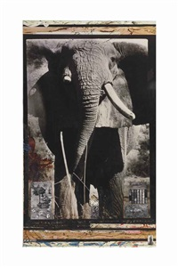 tsavo tusker, on the athi-tiva river by peter beard