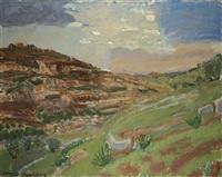 judean hills landscape near jerusalem by leon engelsberg