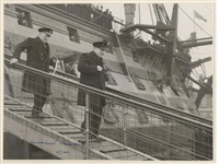winston churchill descending the gangplank of hms victory by anonymous-british (20)