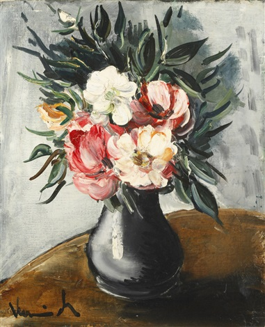 flower in vase by maurice de vlaminck