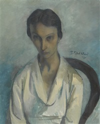 portrait of zoe markevitch-pokhitonov by pavel tchelitchew