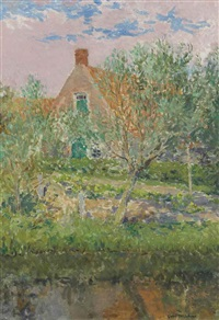 a little house in egmond, holland by gari melchers