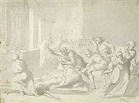 die ermordung des thomas becket in der kathedrale von canterbury by heinrich füssli the younger