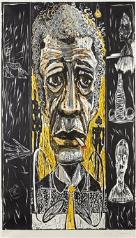 the existentialist (portrait of giacometti) by red grooms