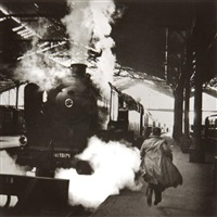 le dernier train, gare saint lazare, paris by christian lemaire