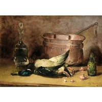 nature morte au canard by guillaume romain fouace