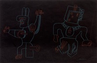 rabbit and robot by karl wirsum
