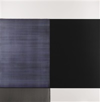 exposed painting cadmium grey/violet by callum innes