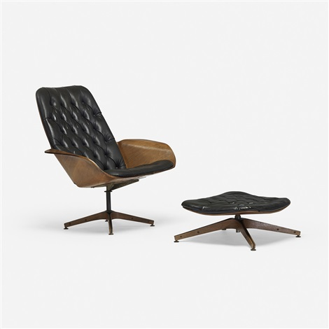 mr. chair lounge chair and ottoman by george mulhauser & Mr. Chair lounge chair and ottoman by George Mulhauser on artnet
