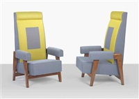 armchairs (pair) by pierre jeanneret
