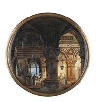 interno di palazzo by giovanni migliara
