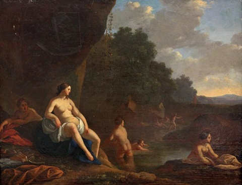 diane et ses nymphes by cornelis van poelenburgh