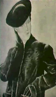 young woman in a hat by frederick etchells