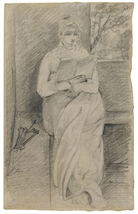 study of susanna hobson reading a book by john constable