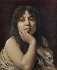 portrait de femme pensive by roberto fontana