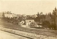 vue d'une ville en france by francois alphonse fortier
