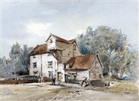 shotesham mill, norfolk by arthur edward davies