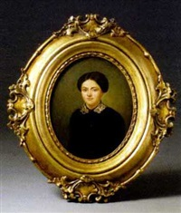portrait einer dame by léon-joseph billotte
