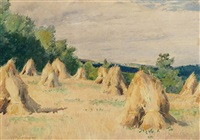 wheatfield near ste-eustache, que. by william brymner