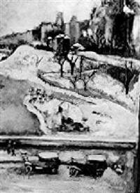 central park scene by felicia (mrs. reg. marsh) meyer