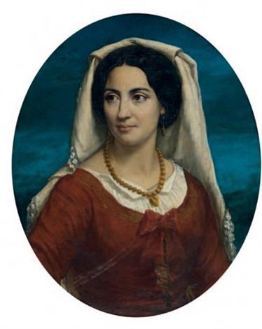portrait de napolitaine by alexandre cabanel