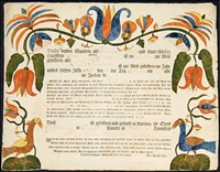 birth and baptism certificate by arnold hoevelmann