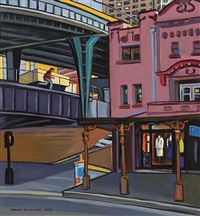 stranger in the city (george st. sydney) by stewart angus macfarlane