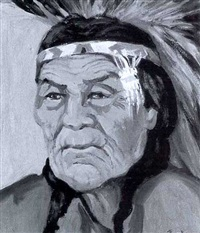 portrait of eagle hunter by mildred valley thornton