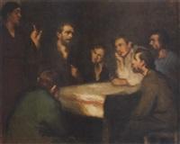 krisztus az apostolok között (christ among the disciples) by istván réti