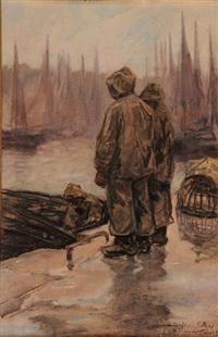 trois marins sur les quais by achille granchi-taylor