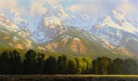 june morning - teton landscape by curt walters