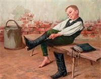 csizmahúzó fiú by géza peske