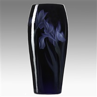 black iris vase by carl schmidt