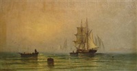 ship in harbor by robert sargent austin