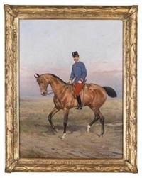 kronprinz rudolf zu pferd by tadeusz ajdukiewicz
