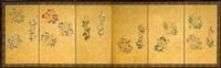 six-fold screen (pair) by japanese school (18)