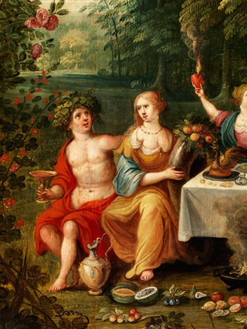 allegorie der vier jahreszeiten allegorie der vier elemente 2 works in collab with a follower of frans francken by jan brueghel the younger