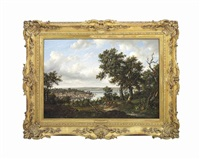 a view of cowes, isle of wight by patrick nasmyth