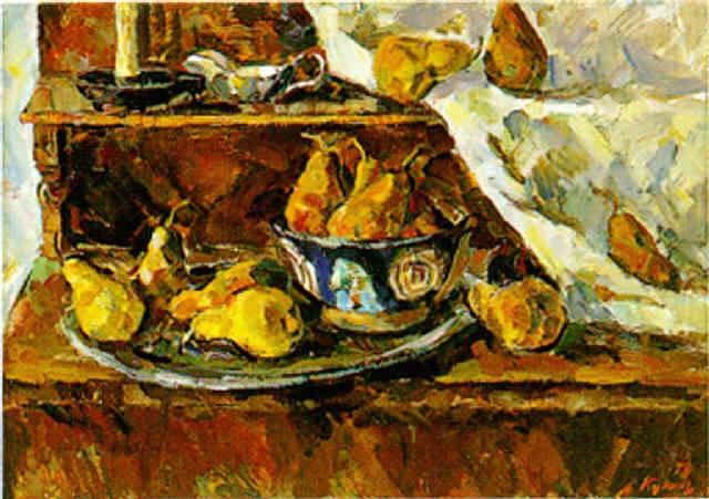 stilleben mit birnen by viktor savvich kukol