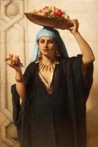marchande de fleurs, le caire by jean françois portaëls