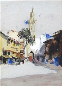 sudan street scene by hercules brabazon brabazon