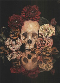 vanitas still life with flowers and insects by toru kamei
