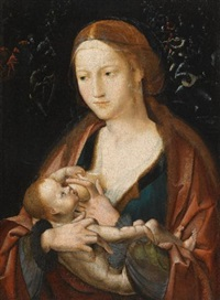 virgin and child with a heavenly host by flemish school-bruges (16)