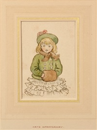 girl with a muff by kate greenaway
